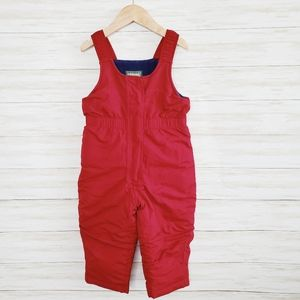 L.L. Bean Red Snow Pants Overalls Size 3T